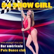 54 Show Girl pole dance. Bar-Américain, Club privé. Vieux-Nice
